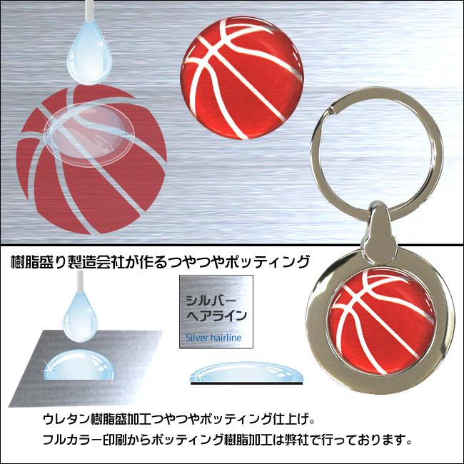 円形キーホルダー バスケットボール柄(リュックサック)