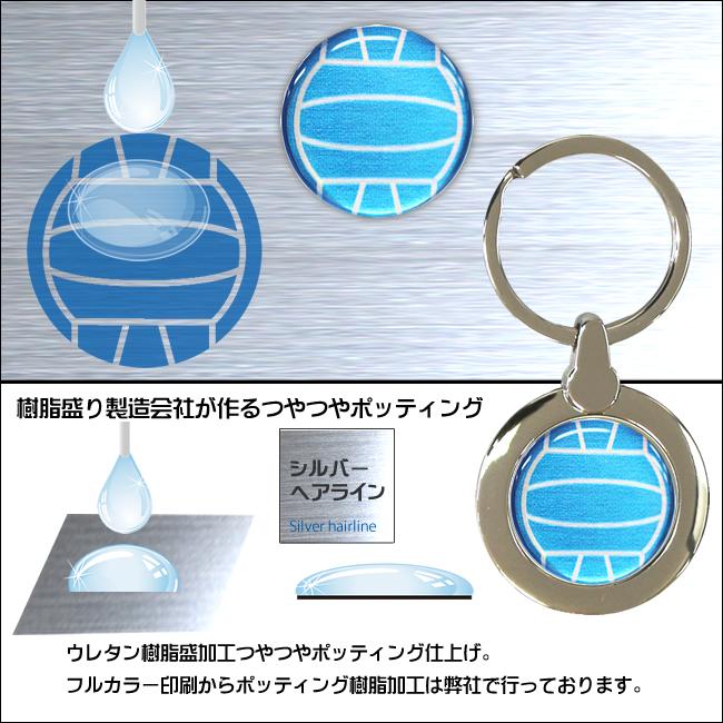 円形キーホルダー バレーボール柄(リュックサック)