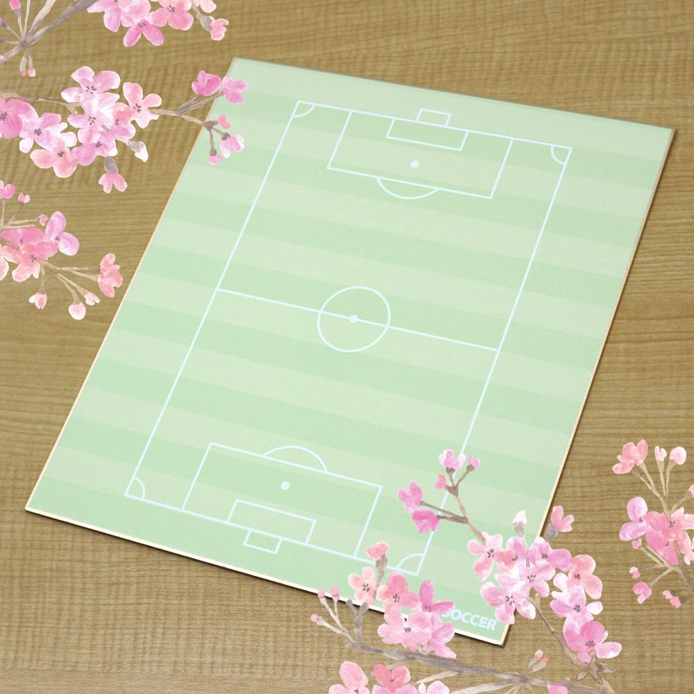 記念品 コート柄色紙 サッカー