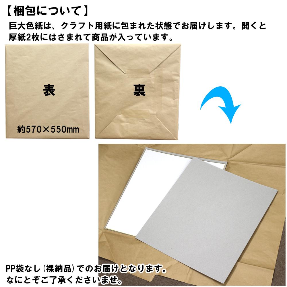 巨大色紙 大人数用 無地 デカ色紙 梱包