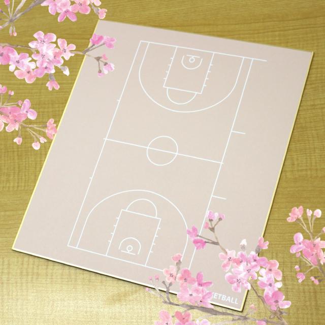 スポーツ色紙(バスケットボール)の使用例画像