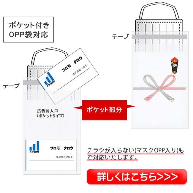 マスク入り広告チラシセット