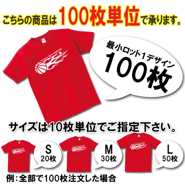 Tシャツの名入れは2000枚単位でお願いします