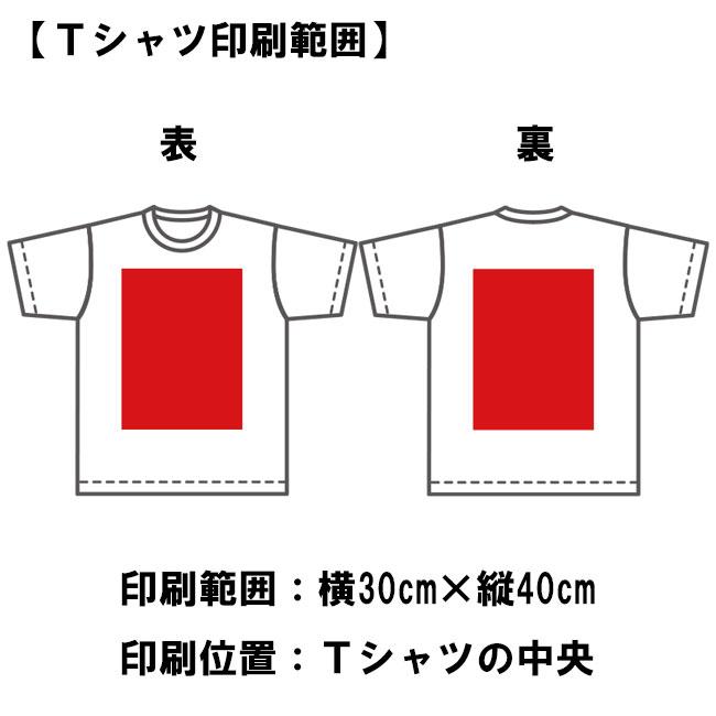 オリジナルTシャツ印刷範囲