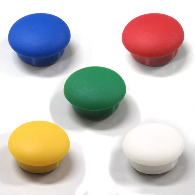 Φ15mmカラーマグネット 赤,青,黄,緑,白