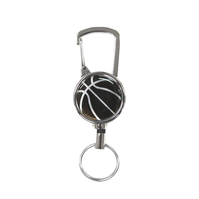 バスケットボール柄シルバーリールキー