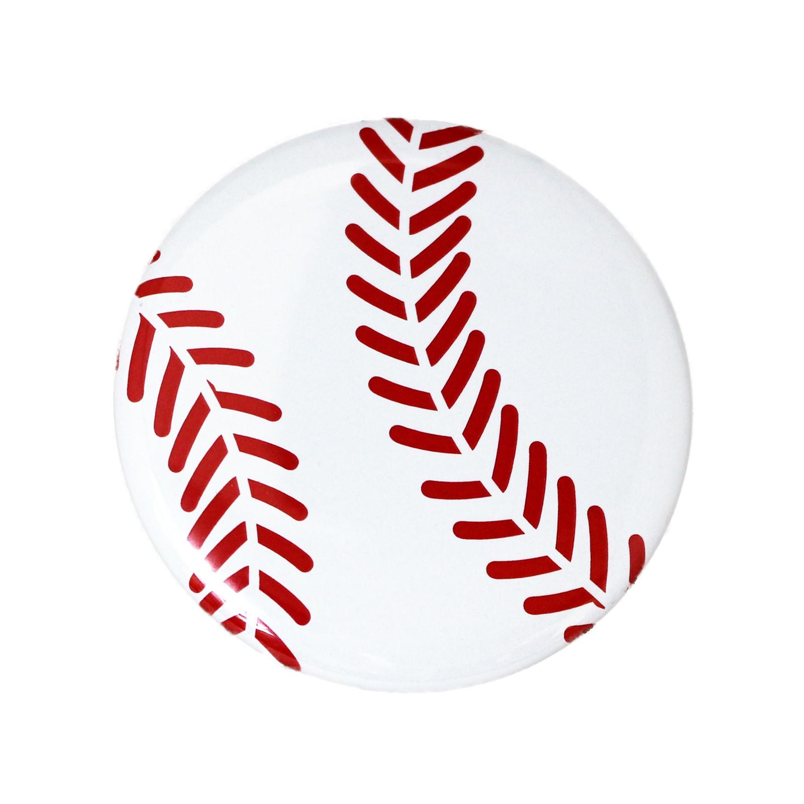 缶バッチ 野球ボール柄