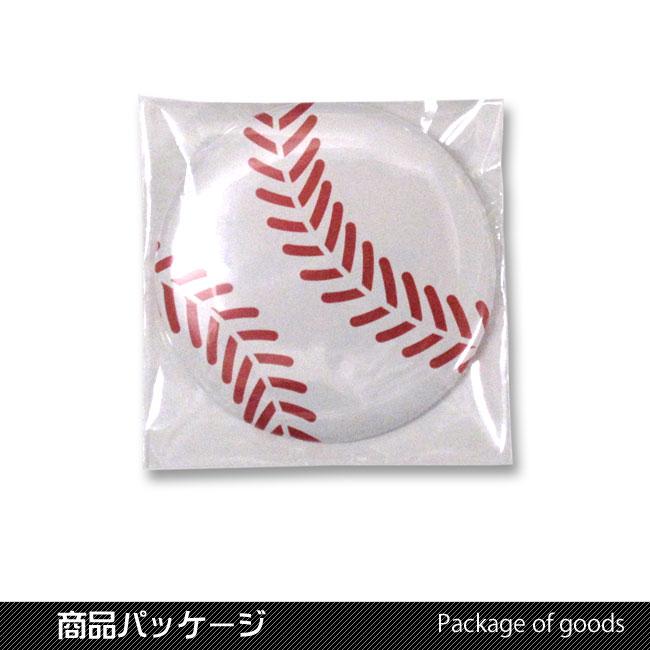 缶バッチ(野球ボール柄)トートバッグ