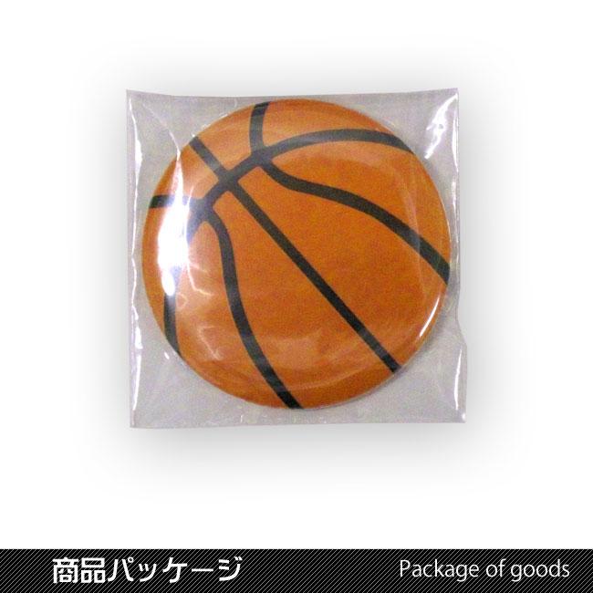 缶バッチ(バスケットボール柄)トートバッグ