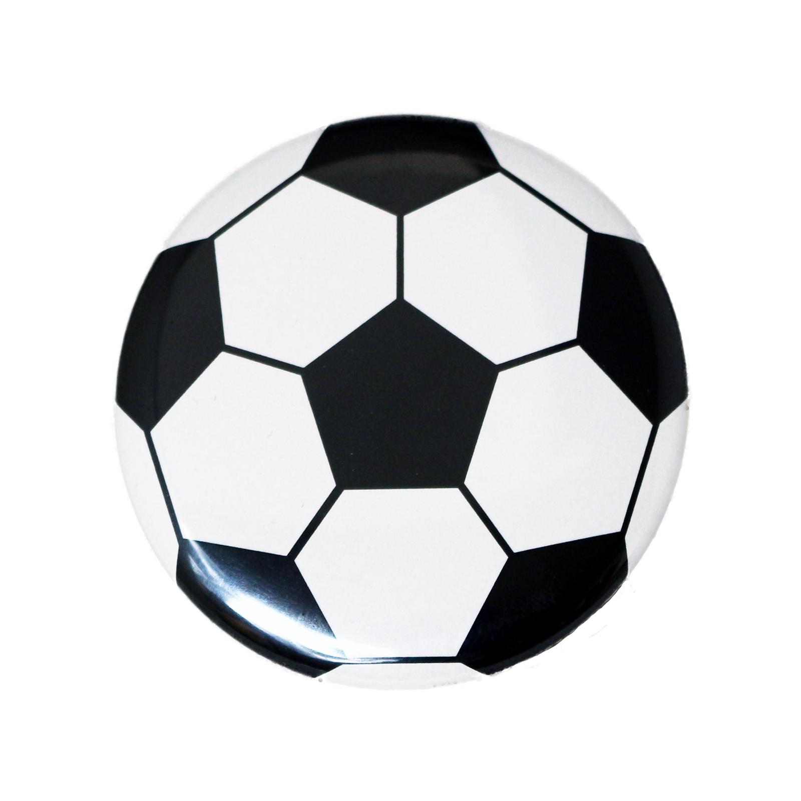 缶バッチ サッカーボール柄